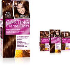 Casting Crème Gloss - Die Pflege-Farbe ohne Ammoniak verschönert die natürliche Haarfarbe und sorgt für gesund aussehendes Haar voller glänzender Reflexe.  #lorealparisde #haircolor #castingcremegloss
