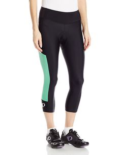 Pearl iZUMi Women's Escape Sugar CYC 3 Quarter Tights, Black/Green Spruce, XX-Large: Our top selling women's cycling tight delivers confident coverage in warm conditions, perfect for sunny summer group rides as well as spin class. Cycling Shorts, Cycling Outfit, Cycling Gear, Road Cycling, Cheap Cycling Jerseys, Bicycle Clothing, Cycling Clothing, Outdoor Clothing, Fitness Clothing