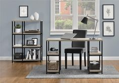 $89 Amazon.com: Altra Elmwood Bookcase, Sonoma Oak: Kitchen & Dining