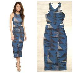 Mara Hoffman Cutout Dress in Loom Blue Mara Hoffman Cutout Dress in Loom Blue, 94% Viscose 6% Elastane, Size M, excellent clean condition  Mara Hoffman Dresses