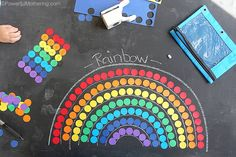 rainbow shapes and counting busy bag for kids