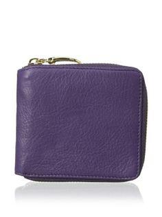 54% OFF Tusk Women's Zip French Wallet, Purple