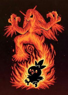 The Fire Bird Within Anime & Manga Poster Print Pikachu Raichu, Deadpool Pikachu, Pikachu Art, Bulbasaur, Fire Pokemon, Pokemon Fan Art, Pokemon Sun, Pokemon Games, Festa Pokemon Go