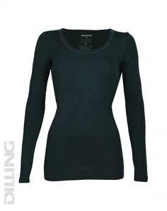 Trøje til Damer - økologisk merino uld petrol | DILLING underwear