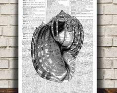 Crab poster Dictionary print Nautical print Beach by OneDictionary