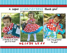 Dr. Suess Birthday Party Thank you Card