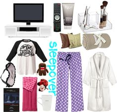 """""""Sleepover :)"""" by sabbywabby ❤ liked on Polyvore"""