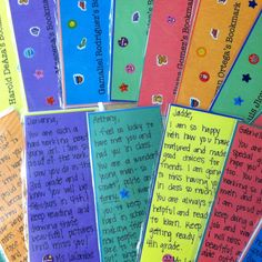 My students LOVED this.  They appreciated the personal notes that I gave them.  Great idea!