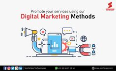 Promote your Services using our Digital Marketing Methods for more Information WhatsApp us @ +91 93 98 97 26 30 www.sophicapp.com #DigitalMarketingCompanyHyderabad #digitalmarketingservices #topdigitalmarketingservices #BestDigitalMarketingServicesinHyderabad Digital Marketing Services, Web Application, App Development, Mobile App, Promotion, Technology, Business, Tech, Mobile Applications