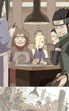 And Deidara, Sasori and I suppose the rest of the akatsuki are behind Sasuke and Sakura eating too xD Naruto Shippuden, Sasunaru, Kakashi Itachi, Naruto E Boruto, Shikamaru, Gaara, Shikatema, Naruhina, Anime Naruto