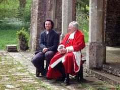 Robin Ellis as Rev. Dr. Halse!!!! (sitting next to Aiden Turner as Ross).