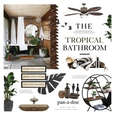 """""""Tropical"""" by happilyjynxed ❤ liked on Polyvore featuring interior, interiors, interior design, home, home decor, interior decorating, Artista, The Beach People, Global Views and Stefanie Phan"""