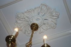 Gorgeous Plaster ceiling medallions.  Intricate & unique pieces of artistic art work