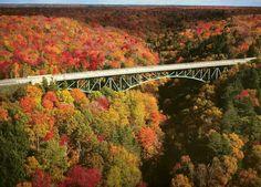 Cut River bridge on Rt.2 in the Upper Peninsula of Michigan