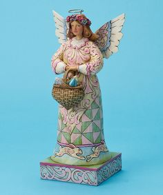 Take a look at this Angel Holding Eggs Figurine on zulily today!