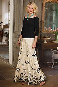 Spring Fever Skirt This is gorgeous! How about type 3 dirty background and stenciled jewel tone butterflys