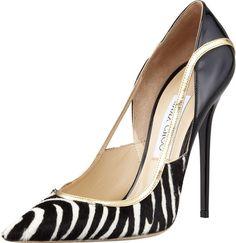 Head over Heels - Jimmy Choo-Viper Calf Hair Stiletto Pretty Shoes, Beautiful Shoes, Fashion Mode, Fashion Shoes, Tong Havaianas, Talons Sexy, Jimmy Choo Shoes, Stiletto Pumps, Designer Shoes