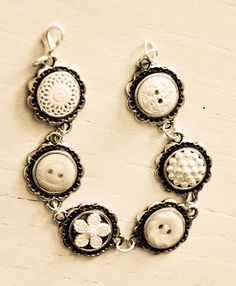 Poppy Seed Projects Blog - Button Bracelet