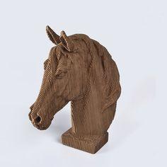 Horse Head DIY Cardboard Craft by boardattack on Etsy