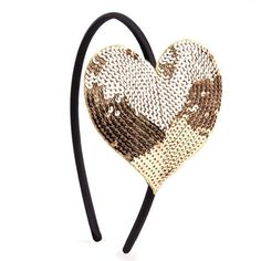 Gold Sequin Heart He