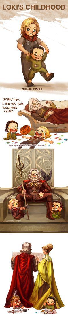Thor and Loki's childhood.