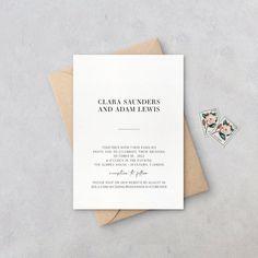 Modern Wedding Invitation Simple Wedding Invites Minimal | Etsy Simple Wedding Invitations, Wedding Stationery, Invites, Adam Lewis, October Wedding, Rsvp, Minimal, Wedding Ideas, Handmade Gifts