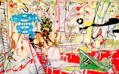 Micci Cohan In And Throughout, 2008 mixed media on paper