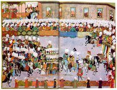 Triumphzug Sultan Mehmets III. in Istanbul nach dem Sieg von Eger/Topkapı Sarayı Müzesi, Istanbul