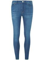 Womens Mind Vintage Mid Rise Bailey Jeans- Blue