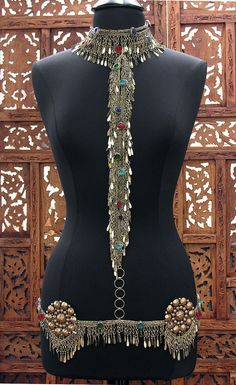 Jeweled Kuchi Fringe Body Chain Scarlet's by ScarletsGypsyLounge, $245.00