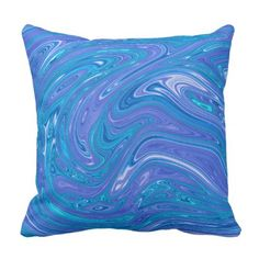 Abstract Blue Throw Pillow - home gifts ideas decor special unique custom individual customized individualized