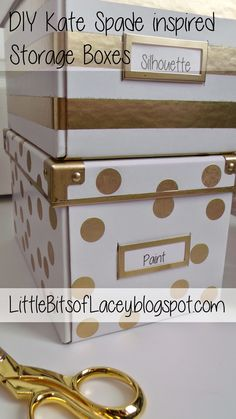 Ikea hack: DIY Kate Spade Inspired Storage Boxes | Little Bits of Lacey