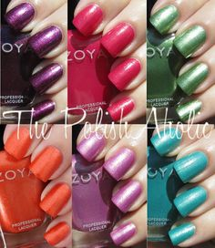 Zoya Summer 2012 Surf Collection Swatches!