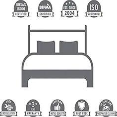FurnitureKraft London King Size Metal Bed (Glossy Finish, Black): Amazon.in: Home & Kitchen Metal Beds, King Size, Home Kitchens, Toddler Bed, It Is Finished, London, Furniture, Amazon, Black