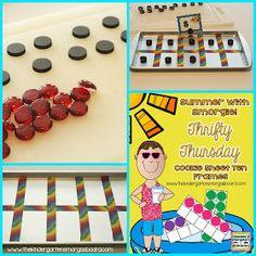 Smedley's Smorgasboard of Kindergarten: A Kindergarten Smorgasboard Thrifty Thursday: Cookie Sheet Ten Frames
