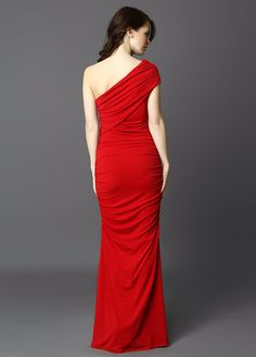 Maxi cocktail dress in red_