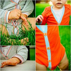 Baby Cardigan from an upcycled Onesie - Tutorial @Melissa Hale, we need to make one of these for Curtis sometime!