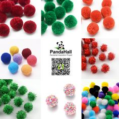 PandaHall Findings-----Pompon for Jewelry Making #PandaHall #pompon #Findings #promotion  #JewelryMaking