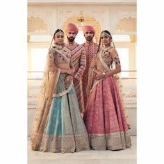 Newest bride & groomswear outfits was revealed by Sabyasachi in his latest Spring selection named The Udaipur Collection. Wedding Outfits Sabyasachi 2017.