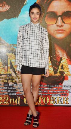 Alia Bhatt at the launch of a song from #Shaandaar.