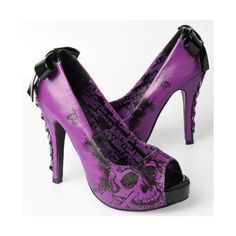 Iron Fist American Nightmare Purple (160 BRL) ❤ liked on Polyvore featuring shoes, high heel platform shoes, faux leather shoes, bow shoes, high heel shoes and iron fist shoes