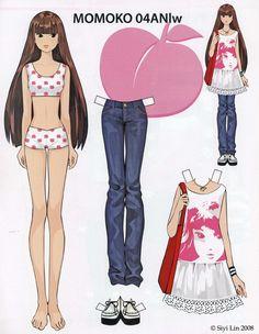 (⑅ ॣ•͈ᴗ•͈ ॣ)♡                                                             ✄Paper Dolls Momoko by Siyi Lin