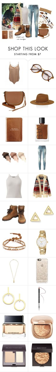"""""""With Harry in Another Man"""" by style-and-chic-boutique ❤ liked on Polyvore featuring Rebecca Minkoff, Janessa Leone, Kate Spade, NARS Cosmetics, Urban Decay, Pierre Balmain, Chanel, Mateo, Chan Luu and Pembe Club"""