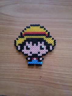 Luffy One Piece #Hama #perler #Hamabeads #Pearlbeads #Perlerbeads #DIY #Pyssla #Geek #friki #handmade #hechoamano #Luffy #OnePiece