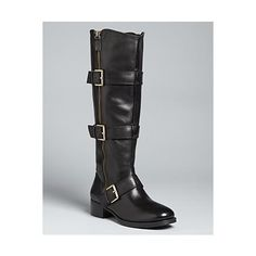 Boutique 9 Buckle Flat Tall Boots - Dacia
