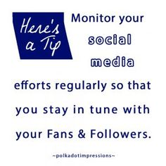Monitor your social media efforts regularly so that you stay in tune with your Fans & Followers. Social Media Marketing, Effort, Monitor, Followers, Polka Dots, Fans, Management, Polka Dot, Fan