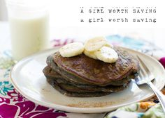 A nut-free recipe for Paleo Banana Chocolate Pancakes that your kids will love!