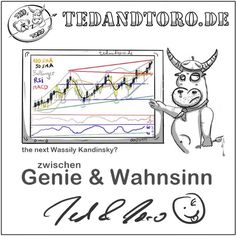 Was haltet ihr von Toros Kunstwerk? 😏😜   #trading #bärundbulle #bulleundbär #aktienfüranfänger #tedandtoro #börse #aktien #finanzen #trade
