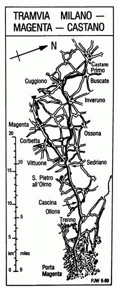 "La cartina, tratta da ""The Magenta Tram"" di G.E. Baddeley"