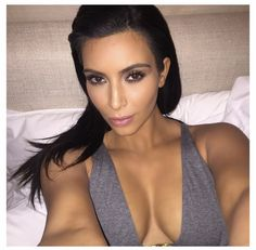 @kimkardashian: #TBT last night right before I fell asleep with all of my make up on grrrrrr